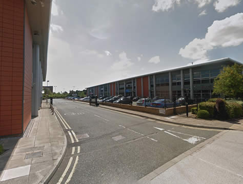 Entrance to speke driving test centre