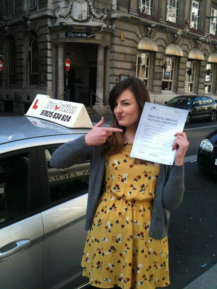 Katie Davies Evolution driving school Testimonial image
