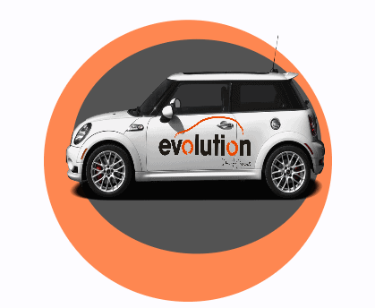 Evolution logo for driving lessons in liverpool