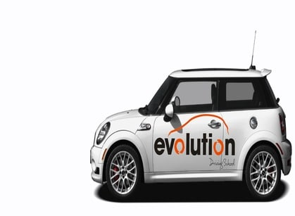 Evolution driving school car