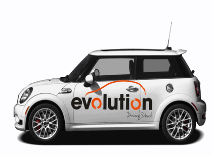 Evolution driving school car